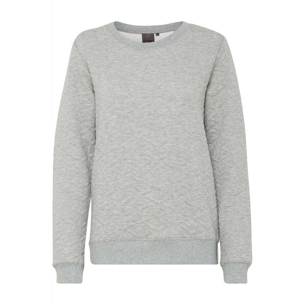 34b355496100 Fransa Clothing 20603333 X-Muquilt Sweatshirt in Light Grey Melange (67971)