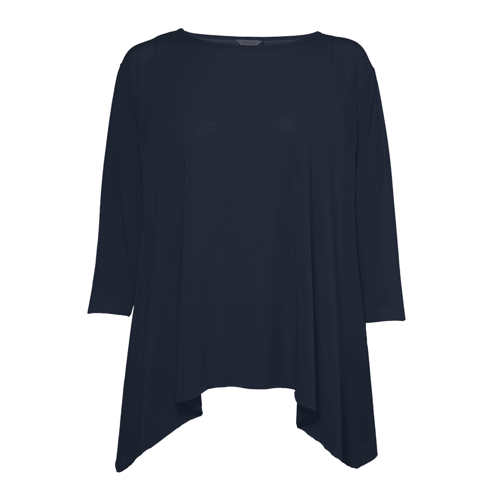 d6ecbb1c7 Great Plains Clothing Great Plains Clothing J6LAU Ice Jersey Boat Neck Top  in Dark Navy