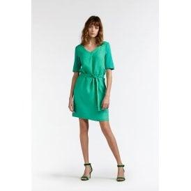 f931547adb52 Sandwich Clothing Jersey and Linen Dress in Jolly Green