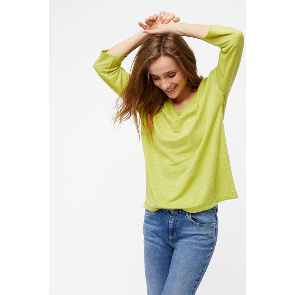 88d2c1e3741 White Stuff Clothing 422260 Highline Linen Jersey Tee in Citron Green