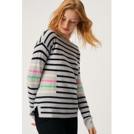 a1bc33c042 White Stuff Clothing 425524 Willow Stripe Jumper in Navy Stripe