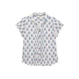 691a039590 White Stuff Clothing 426104 Lourve Shirt in Lyon Blue Print
