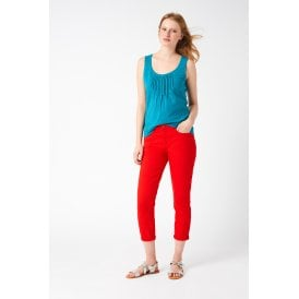 bf040afeb5 White Stuff Clothing 426279 Southern Seas Straight Crop in Coral Red Pl